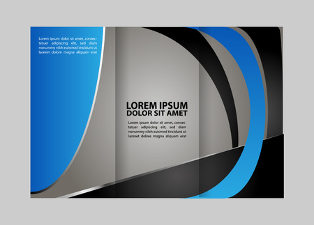 the publisher: trifold brochure design template vector geometric abstract