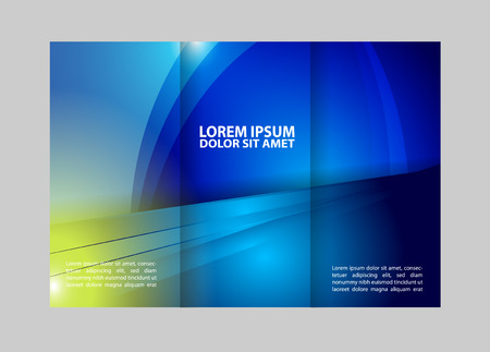 the publisher: brochure tri-fold design template waves