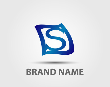 sch: Letter S logo design template elements icon. Vector color sign