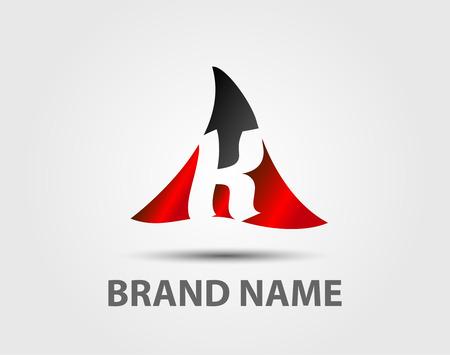 company: Vector logo design template K Letter company Illustration