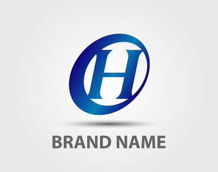 H-Logo unterzeichnet Ikonenvektor-Designschablonenelemente
