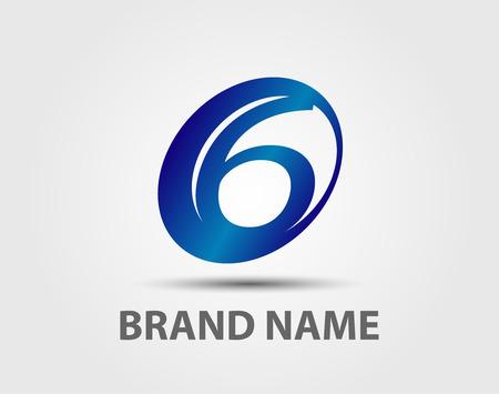 six web website: Vector logo design template number 6