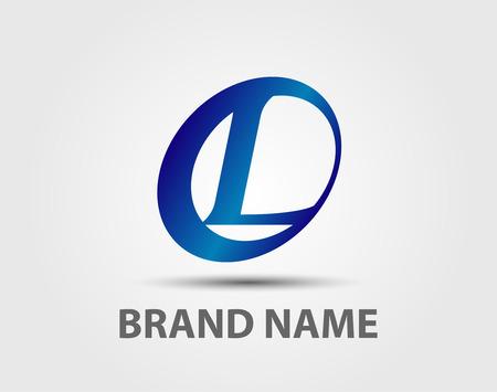 Letter L logo design template elements icons