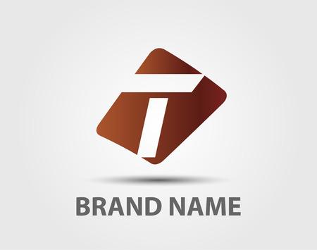 T の文字ロゴに基づく抽象のアイコンのベクトル イラスト  イラスト・ベクター素材