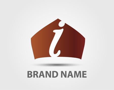 letter i: Abstract Letter I vector logo symbol Illustration