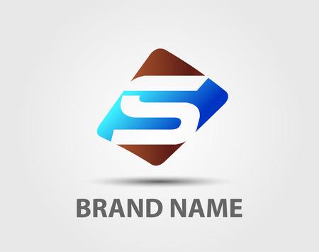 Illustrazione vettoriale delle icone astratti basato sulla lettera S logo