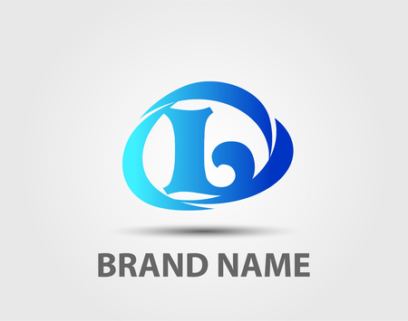 Abstract letter L design template
