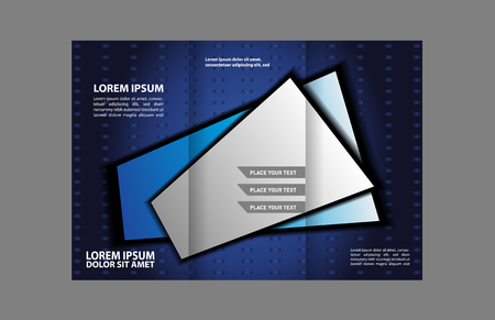 catalog: Tri-fold Brochure Business, Catalog Design Vector