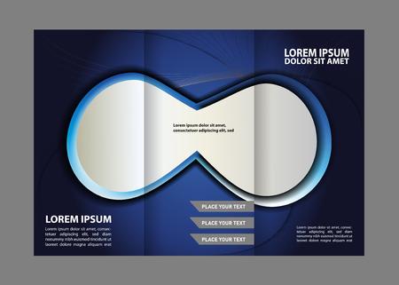 book publisher: brochure tri-fold design template waves