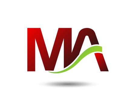 Letter MA vector