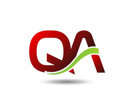qa: qa vector Illustration