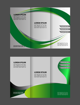 publisher: waves curves abstract brochure design template set Illustration