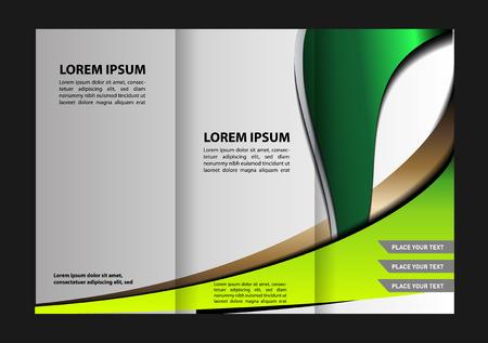 book publisher: brochure design template Illustration