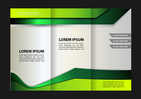 book publisher: trifold brochure design template vector geometric abstract
