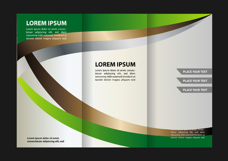back up: Tri-fold brochure design vector template with abstract geometric background Tri-Fold Mock EPS10 back up & Brochure Design