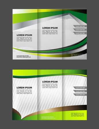 Tri fold brochure template design pizza store vector illustration