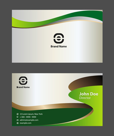 green card: abstract vector business card templates