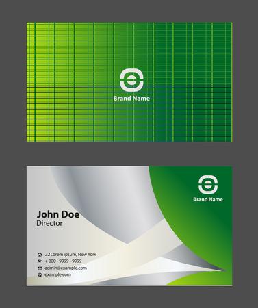 sch: Modern business card templates simple light Illustration