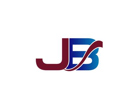 JB company letter-linked group Vektoros illusztráció