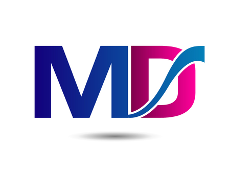 Letter MD vector