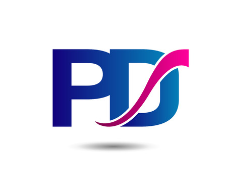 d: Letter P and D Illustration