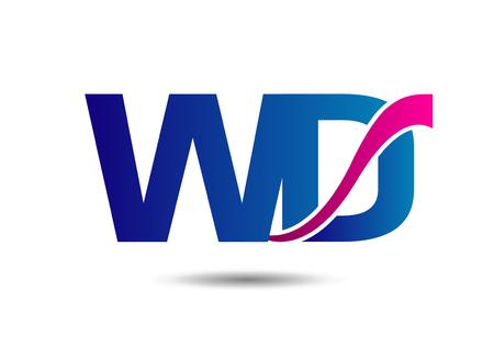 d: Letter W and D Illustration