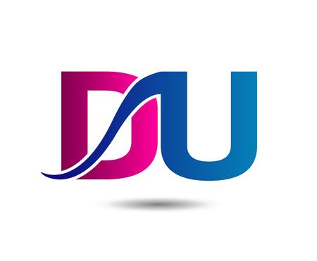 Letter D and U, du vector