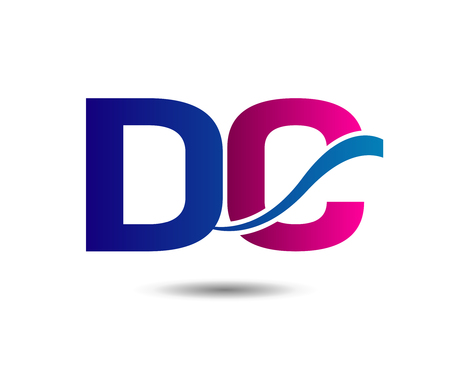 consult: Letter D and C vector Illustration