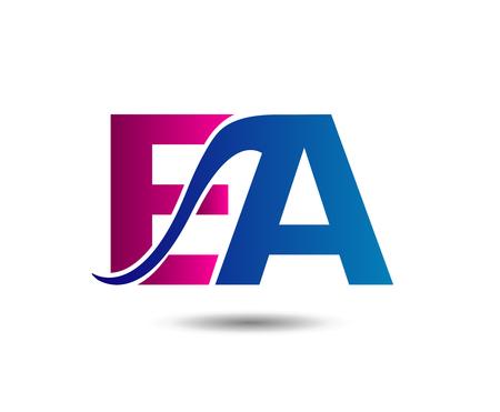 EA company linked Letter Vektoros illusztráció