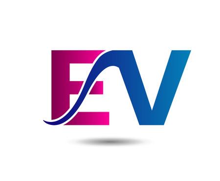 Letter E and V monogram