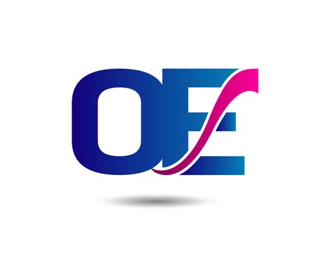 Unusual O and E Business template icon io Illustration