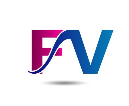 fv: Letter company linked Fv Illustration