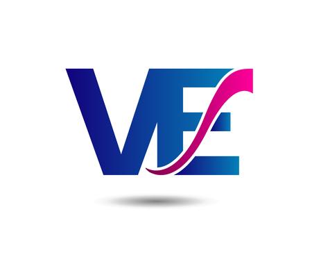 Letter V and E monogram