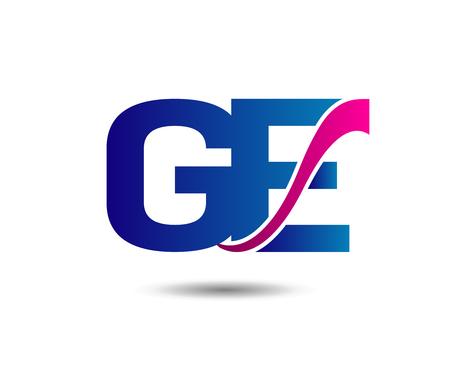 Letter G and E monogram Banco de Imagens - 80508980