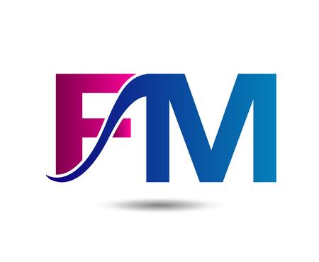 fm: Letter FM vector