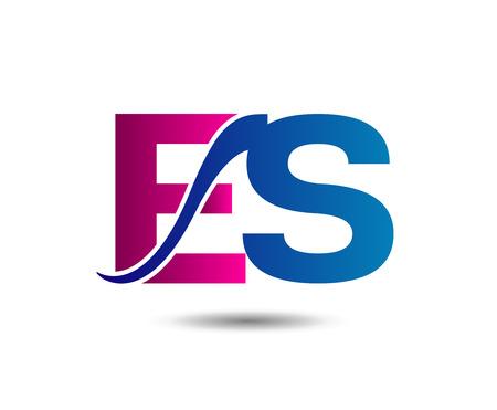 Letter E and S Illusztráció
