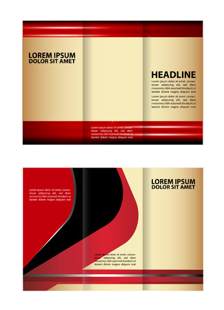 rec: Vector design template rec tri-fold brochure