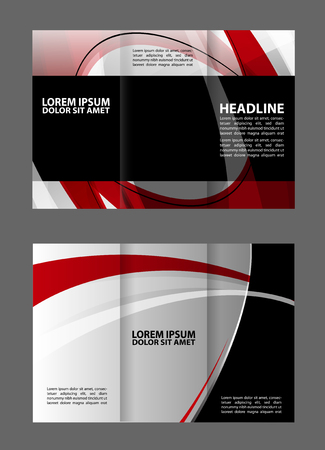 catalog: Abstract element catalog brochure booklet folder