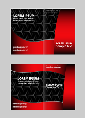 Professional business flyer template or corporate brochure design Illustration