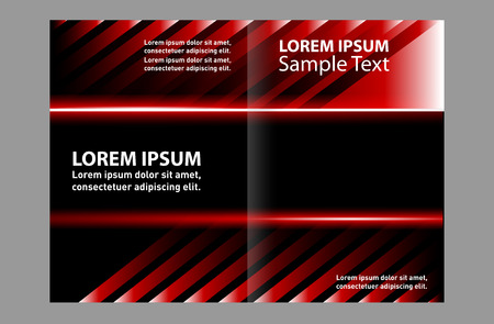 book spreads: Bi-fold brochure empty vector template design print Illustration