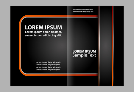 double page: Abstract background design template Brochure Illustration