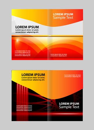 bi: Bi Fold Brochure Design Vector