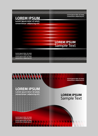 bi: Vector illustration Corporate Brochure Fold bi