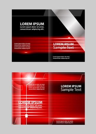 invitation barcode: Bi-Fold Corporate Business Store Brochure Design Mock up & Illustration