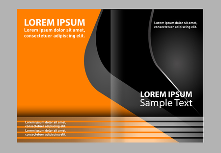 coworker banner: Black and orange template for advertising brochure