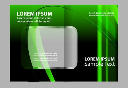 coworker banner: green brochure template Illustration