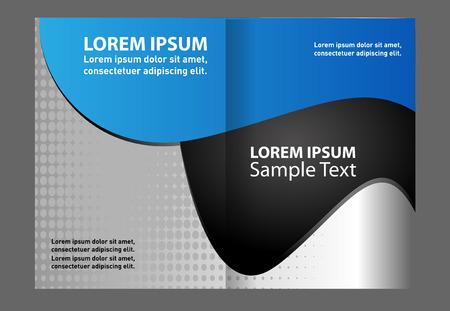 book publisher: Vector brochure template design