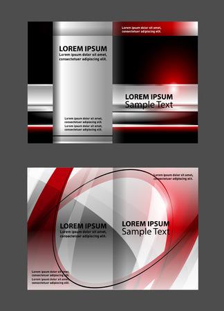 bi: Bi fold business brochure template vector