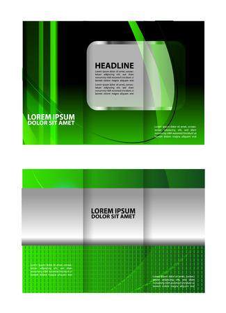 fold: tri fold brochure template green