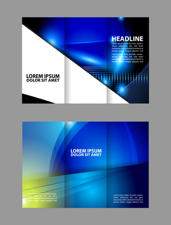 Professional Three Fold Business Flyer Template Corporate Brochure